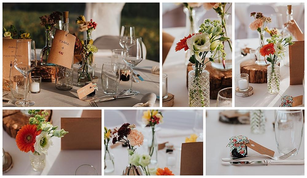 Décoration de table mariage automnale