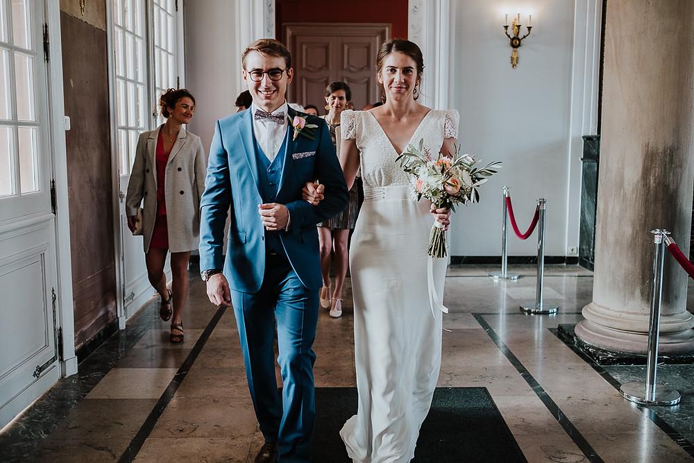 Entrée des mariés à la mairie