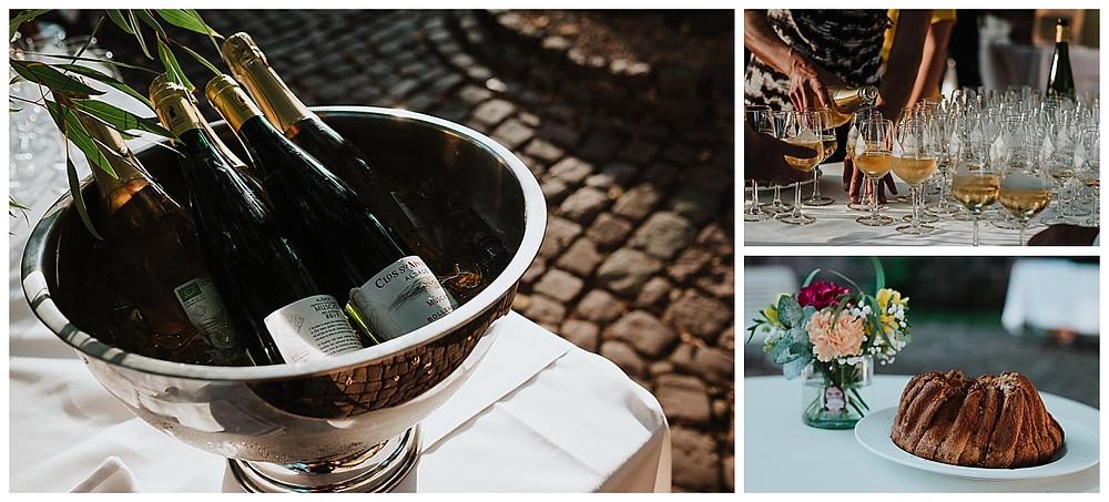 vin d'honneur mariage Domaine Bollenberg