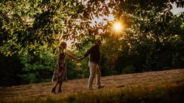 Photos couple golden hour alsace