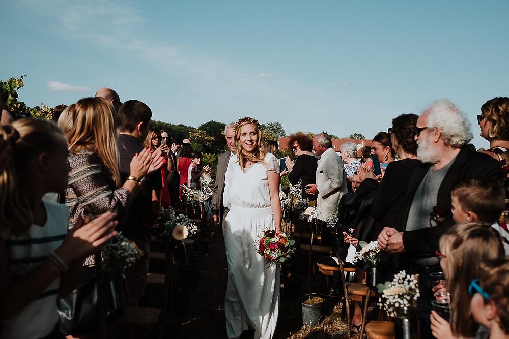 arrivée de la mariée cérémonie laïque