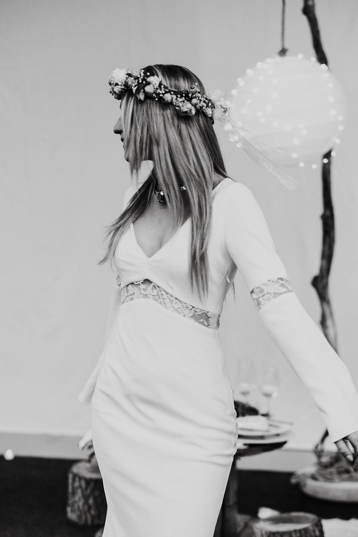 Robe de mariée manches longues Aux FIls de l'Histoire