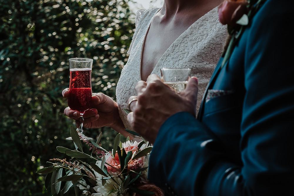 verres des mariés