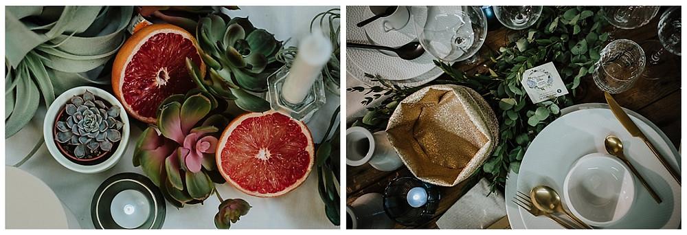 Décorations de table de mariage Hortensia Bleu