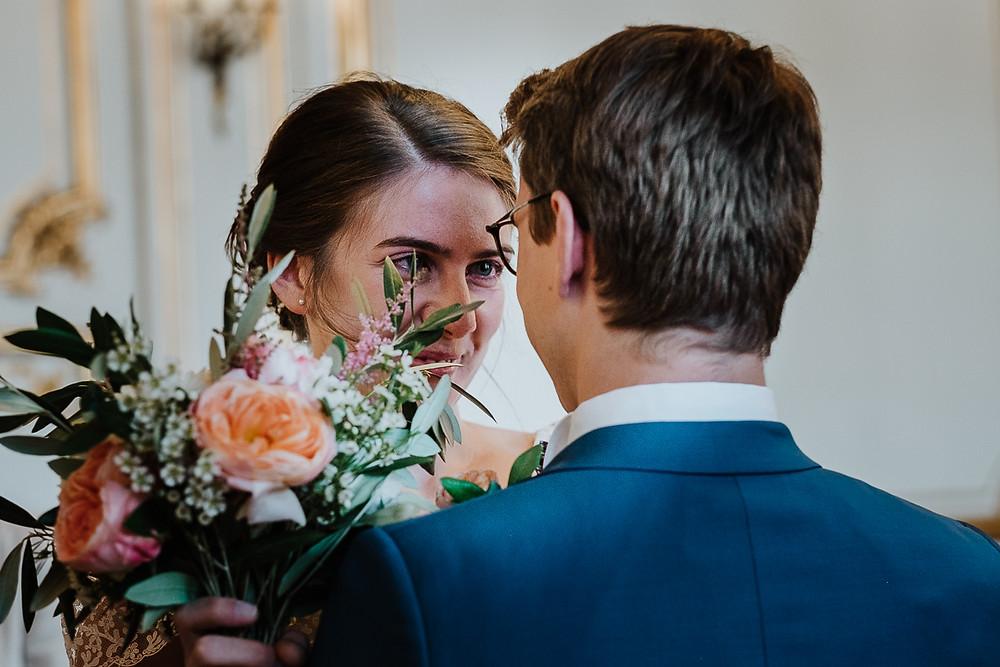 Regard des mariés