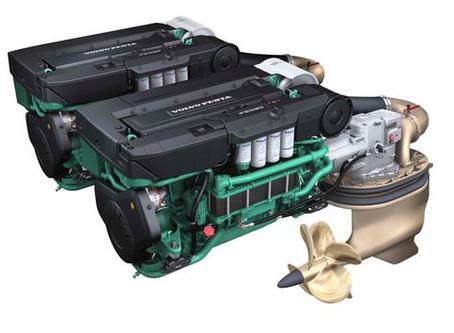 Volvo Pentas nye utgave D13 IPS1350 driver nå større semi-displacement båter.