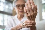 Elderly female patient suffer from numbing pain in hand,numbness fingertip,arthritis infla