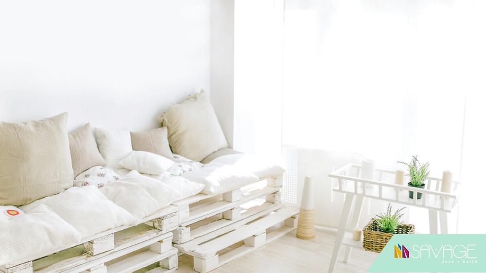 Decoración y diseño económico con muebles de pallets.