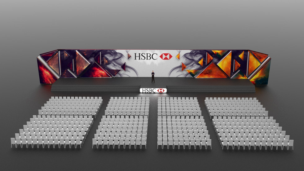 HSBC Video Mapping Stage Design