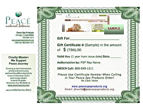 Buy $100 Gift Certificates, Get Free $20 Gift Cert