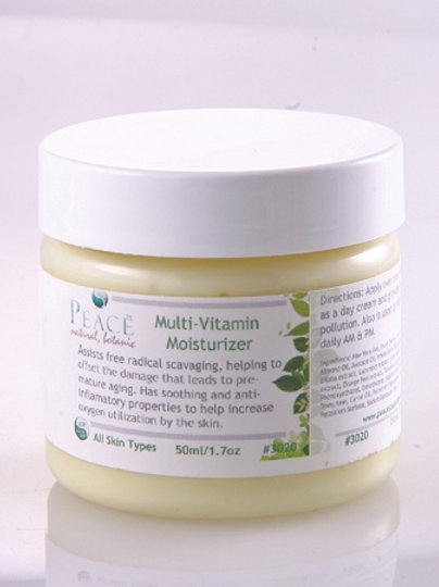 #3020  Multi Vitamin Moisturizer Retail 2oz -Whlse