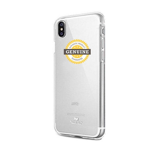 iPhone XS Max Clear Jelly Case Mercury Goospery