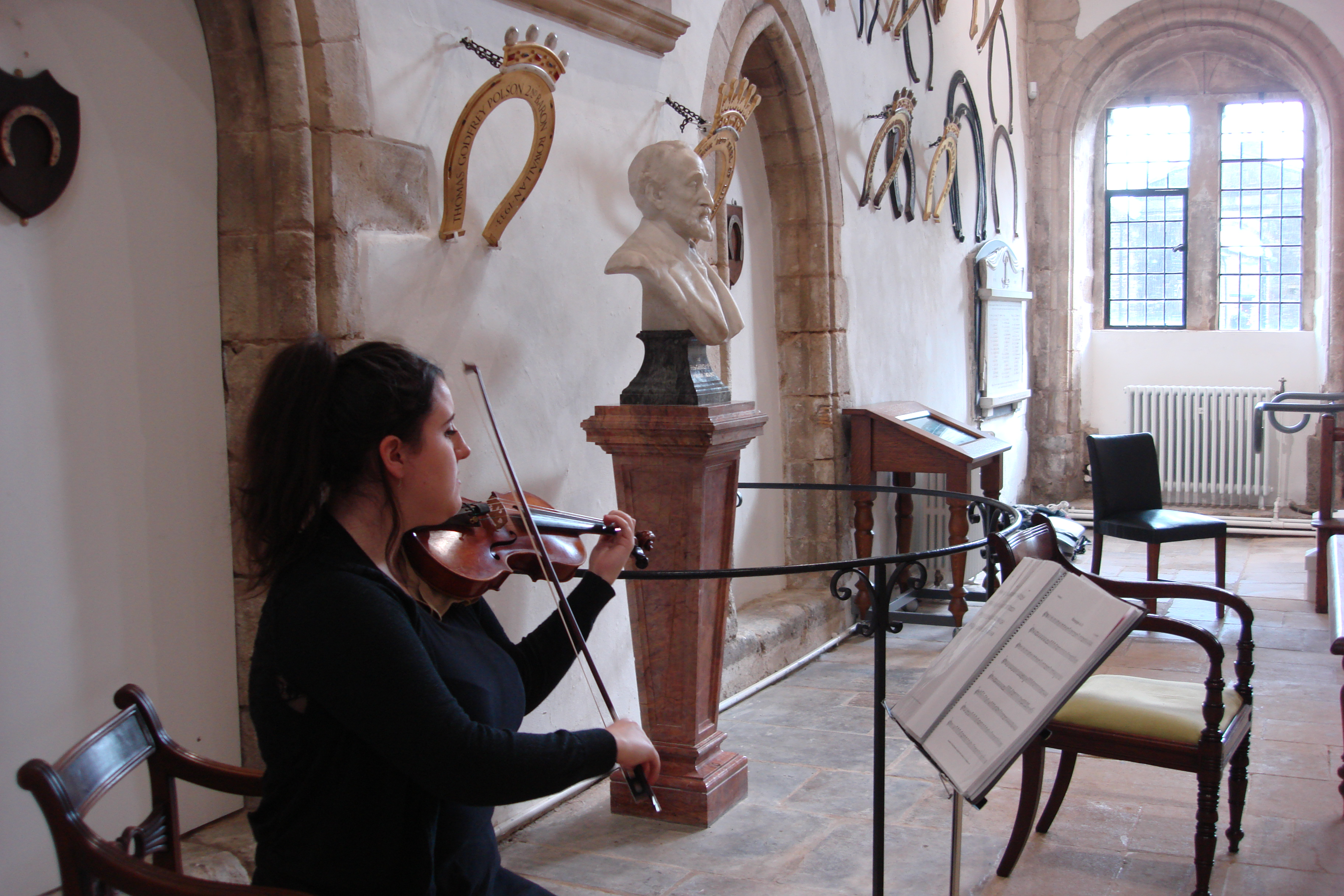 Violinist at Oakham Castle