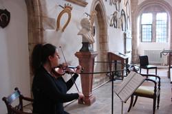 Violinist at Oakham Castle