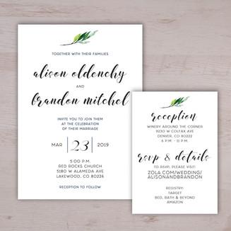 Simple & Minimalistic Wedding Invitatio
