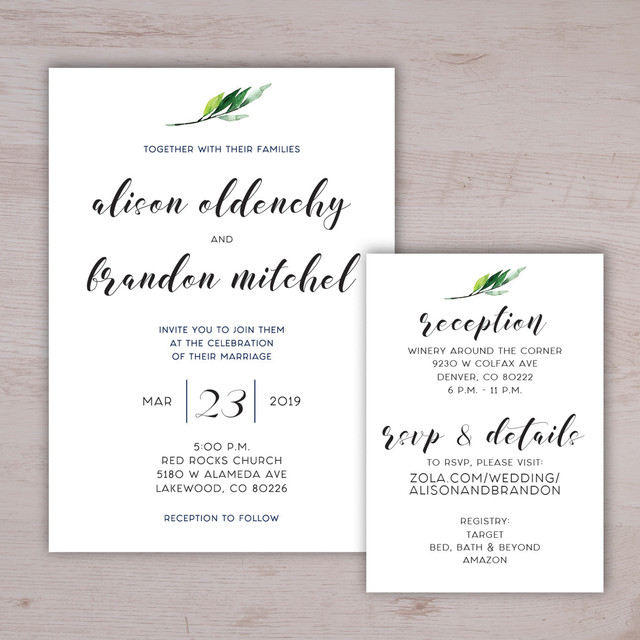 Simple & Minimalistic Wedding Invitatio