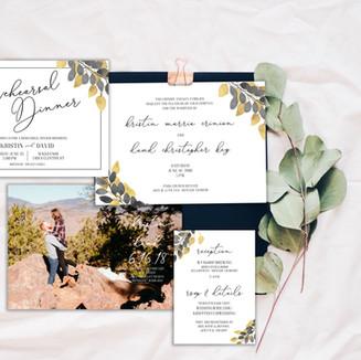 Save the Date Wedding Combo Invitation