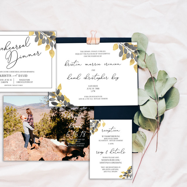 Save the Date Wedding Combo Invitation
