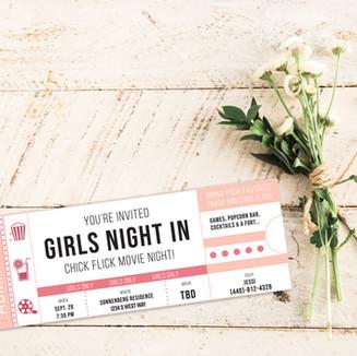 Girls Night Party Invitation