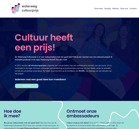 Website Waterwegcultuurprijs 2021