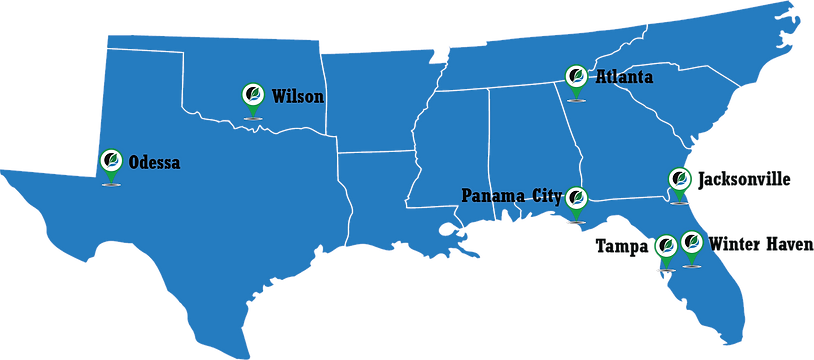 Hull's Locations in Florida, Georgia, Ok