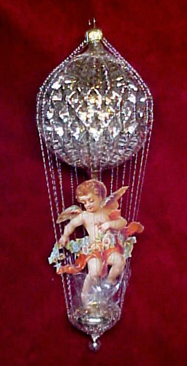 #5511-004 - Wire Wrapped Angel Ballon, Bright Gold