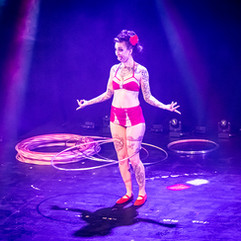 Chi Chi Revolver performs Circus Hoop
