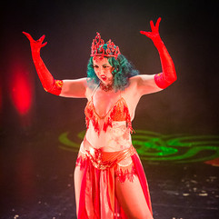 Lady Wildflower performing 'Fire Imp'