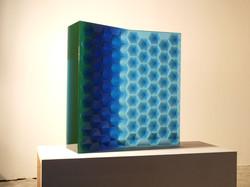 RHYTHM IN BLUE 2009 37 x 37 x 8in