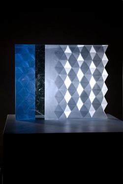 RHYTHM IN BLUE 2011 20 x 16 x 6in