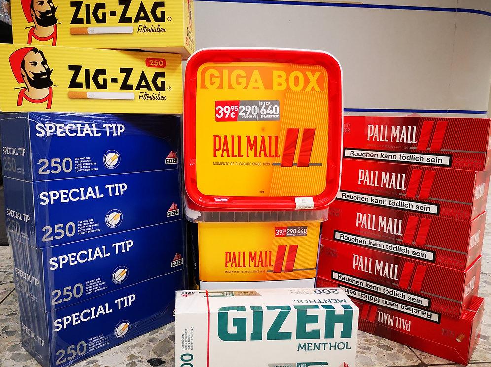 Ongebruikt 6* Pall Mall GIGA Box, 3000 Hülsen, 6* 🔥 | cubionline XQ-75