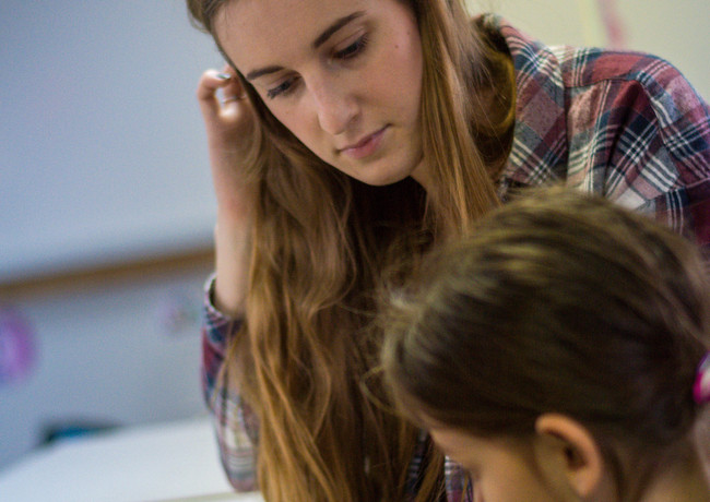 Volunteer Educating