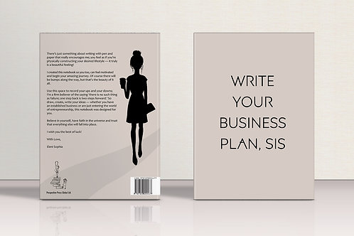 NOTEBOOK Write Your Business Plan, Sis    8.5 * 11  inches