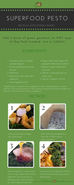 Superfood Pesto Recipe Card