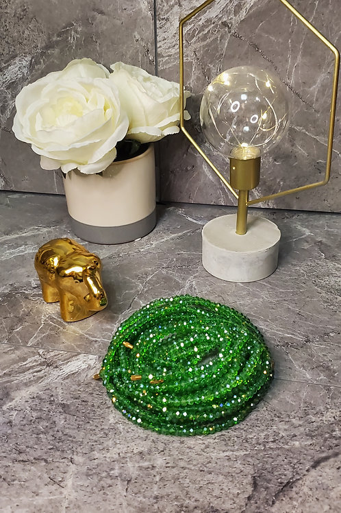 Green Crystal Waist Bead