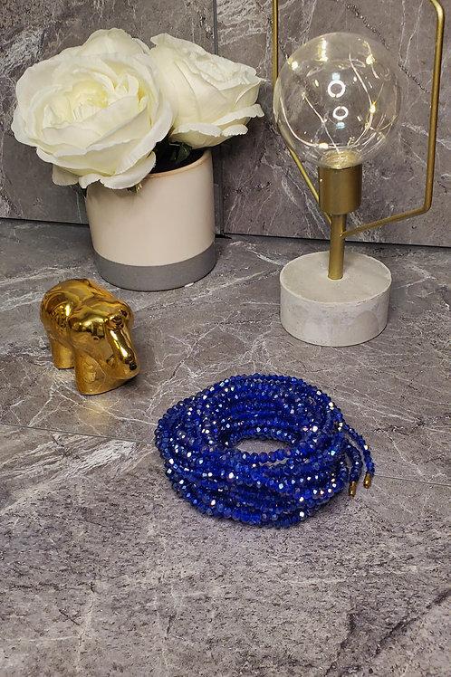 Blue Crystal Waist Bead