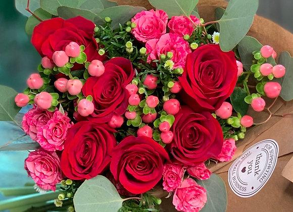 Hand Wrapped Seasonal Bouquet