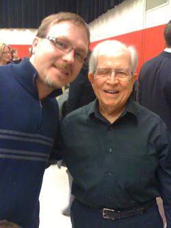 My teacher Dr. Emerson Head and me.