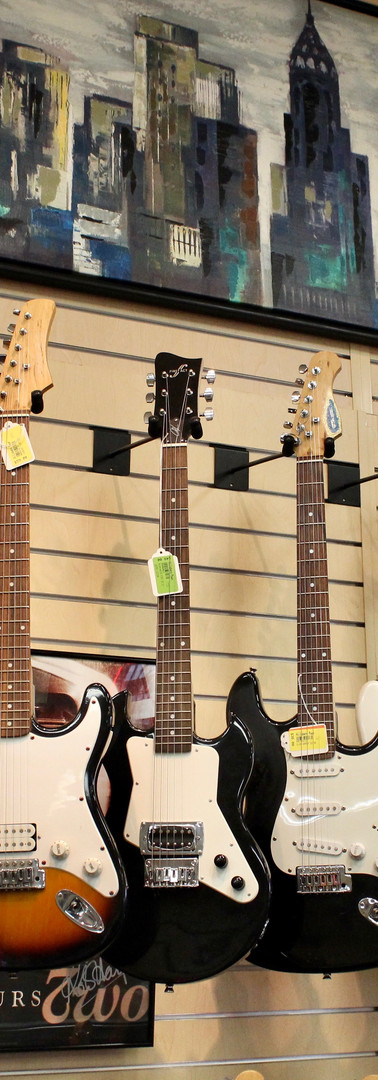 Some of the electric guitars available at Hillsboro