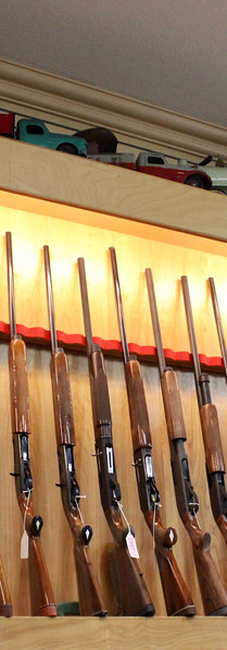 Just a few of the long guns for sale at Hillsboro