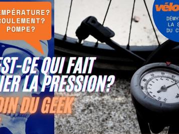 Coin du Geek - Ep 27 : Qu'est-ce qui fait varier la pression des pneus?