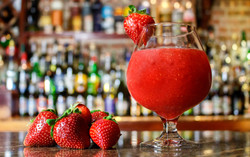 Drink cremoso de morango