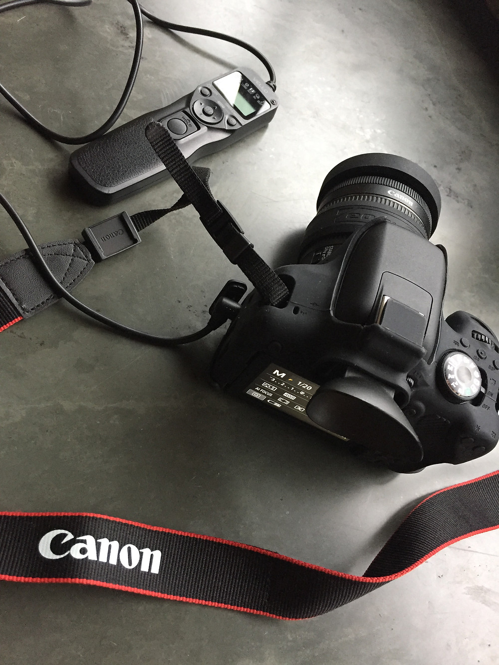 Intervalômetro conectado à câmera