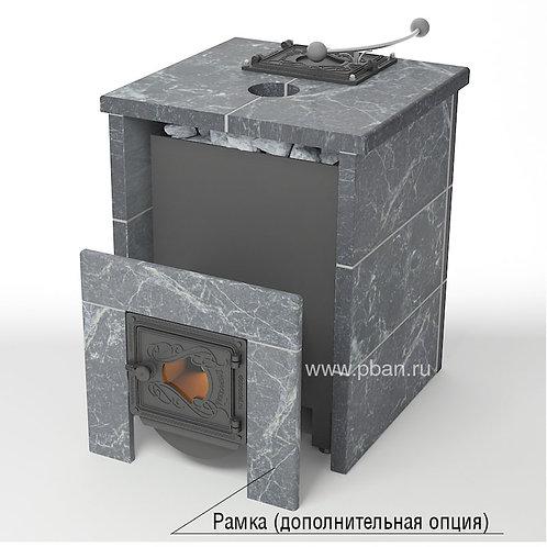 Печь Жара-Стандарт со стеклом в облицовке из талькохлорита с закрытым верхом