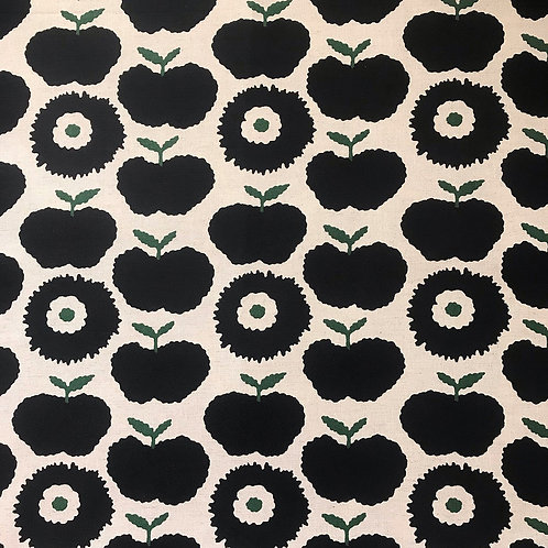 Apples and Carnations (black)