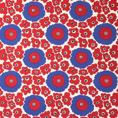 violets (red) flowers (red and blue)