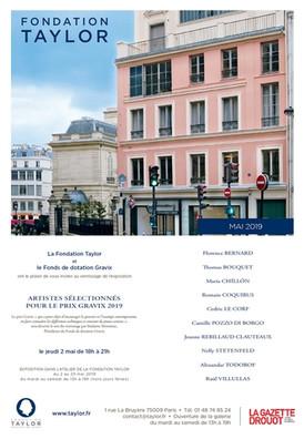 Exposition du Prix Gravix Fondation Taylor (Paris)