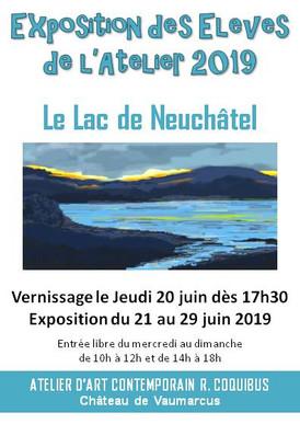"""Exposition des élèves de l'Atelier 2019: """"Le lac de Neuchâtel"""""""