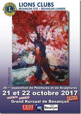 26ème Exposition de peintures et de sculptures du Lions Club, Besançon (France)