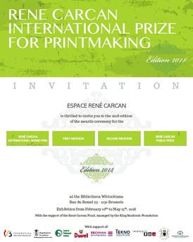 Sélection Prix International de Gravure René Carcan & Exposition à la Bibliotheca Wittockiana, B